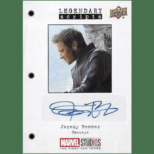 Upper Deck Marvel Studios First Ten Years Legendary Scripts Autograph Jeremy Renner as Hawkeye