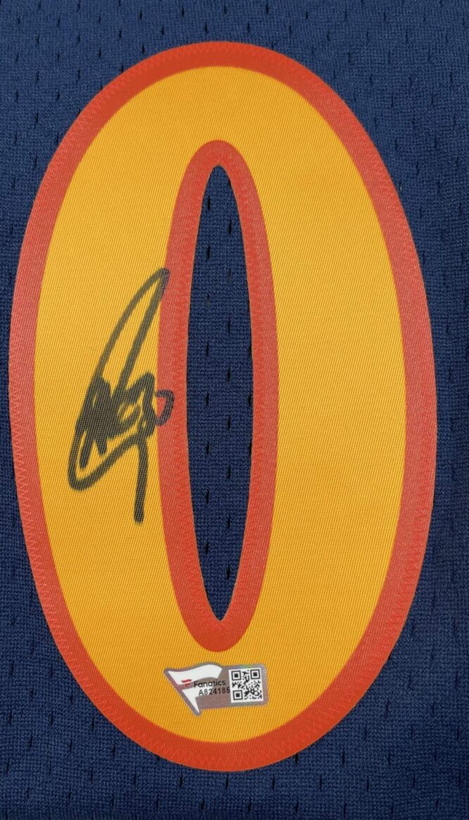 Warriors Stephen Curry Signed Rookie Year MN HWC Swingman Jersey Fanatics COA A824185 1